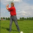 Henry speelt boerengolf